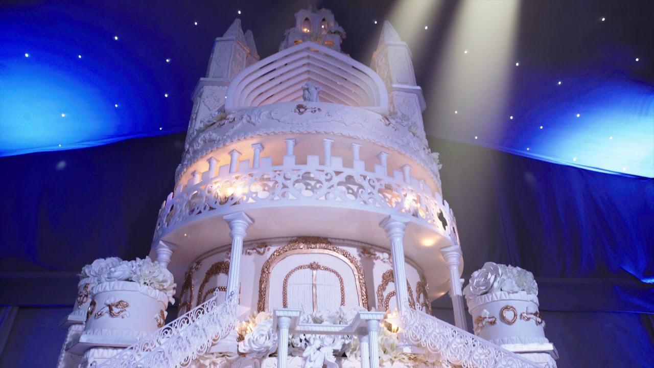 Castle Wedding Cake.Asian Wedding Cakes Painshill Park Castle Wedding Cake