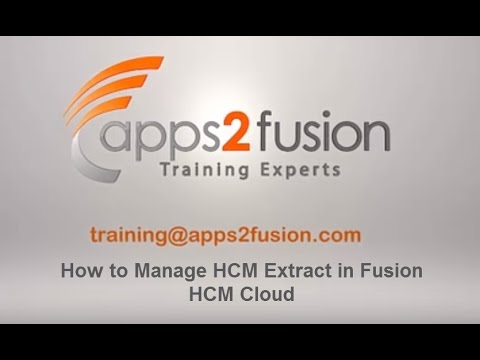 How to Manage HCM Extract in Fusion HCM Cloud