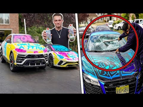 My R8 Windshield Was SMASHED! (Spray Paint PRANK Gone Wrong)