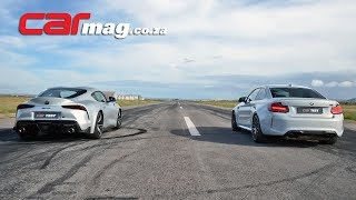 DRAG RACE: Toyota GR Supra 3,0T vs BMW M2 Competition M-DCT