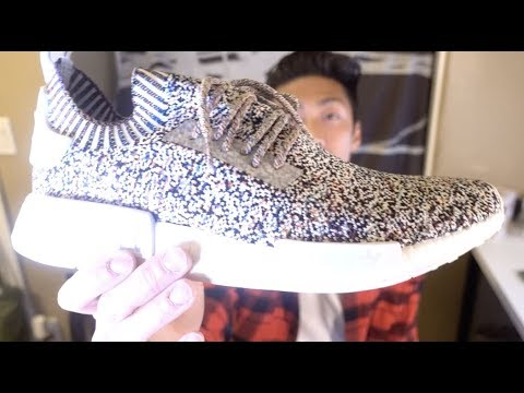 buy popular 7124e 252b3 Adidas NMD Boost PK R1 Color Static Rainbow Multicolor Quick Review +  SIZING!