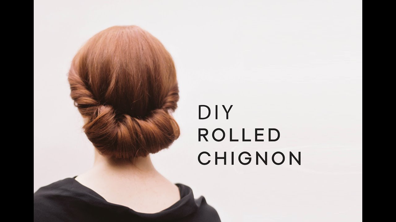 DIY Rolled Chignon Hair Tutorial | Wedding Hairstyles from Once Wed ...