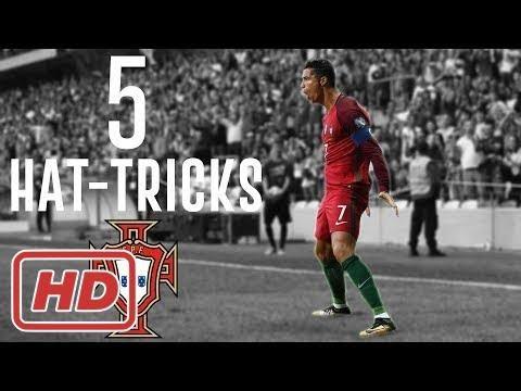 Cristiano Ronaldo - All 5 Hat-tricks With Portugal 2013/2017[ Johanna Wagner ]