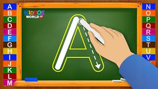 How to Write Letters for Children - Teaching Writing ABC for Preschool - Alphabet for Kids