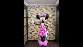 Как сделать микки - минни мауса из шаров/Mickey mouse, Minnie mouse out of balloons
