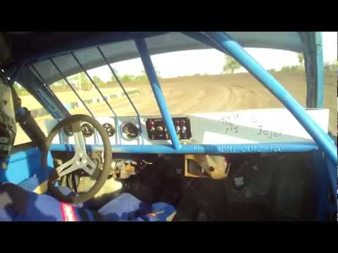 Dawson County Raceway Heat Race 40J Replay XD1080 Inside cam 7-15-12 Sport Compact