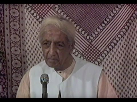 Is there another instrument of inquiry than thought? | J. Krishnamurti