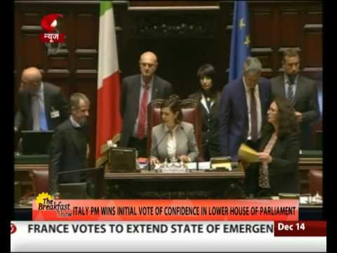 Italy PM wins initial vote of Confidence in lower house of Parliament