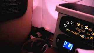 Etihad Airways flight EY 470 - Part 3 (Airbus A330-200 Pearl Business Class Seat Functions)