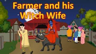Farmer Gets The Witch Wife | English Cartoon | Horror Stories | Maha Cartoon TV English