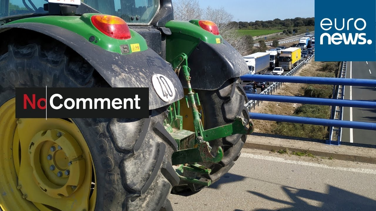 Thousands of farmers in eastern Spain cultivate protest over prices