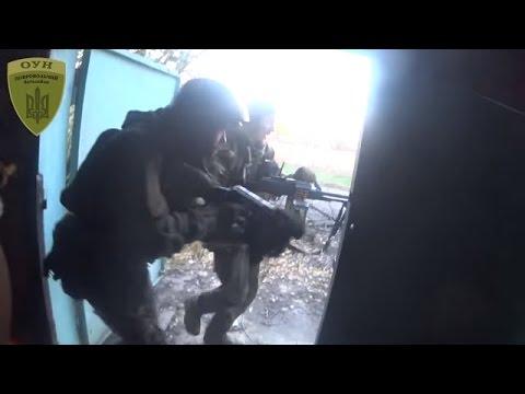 Ukraine War - Ukrainian paramilitary in a combat mission in Donetsk Ukraine