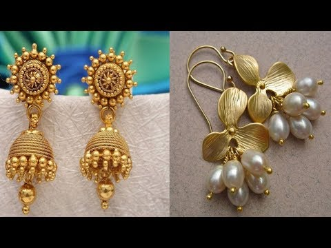 Latest light weight Gold Earrings Design with weight and price