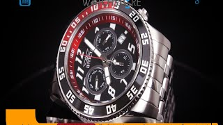 invicta 14509 men s pro diver black dial chronograph stainless steel dive watch review video