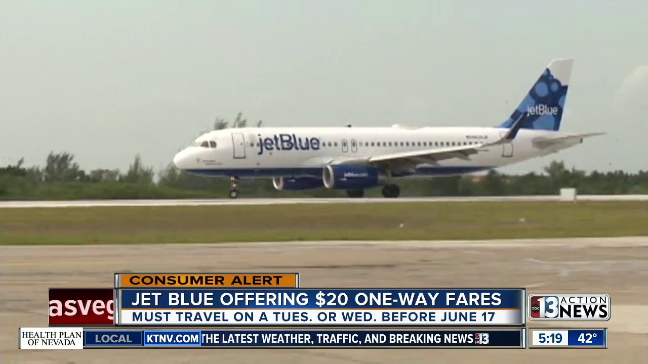 JetBlue offering $20 tickets to celebrate its 20th anniversary