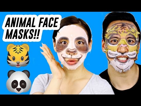 Testing Out Animal Printed Face Masks! iHerb || Tina Tries It