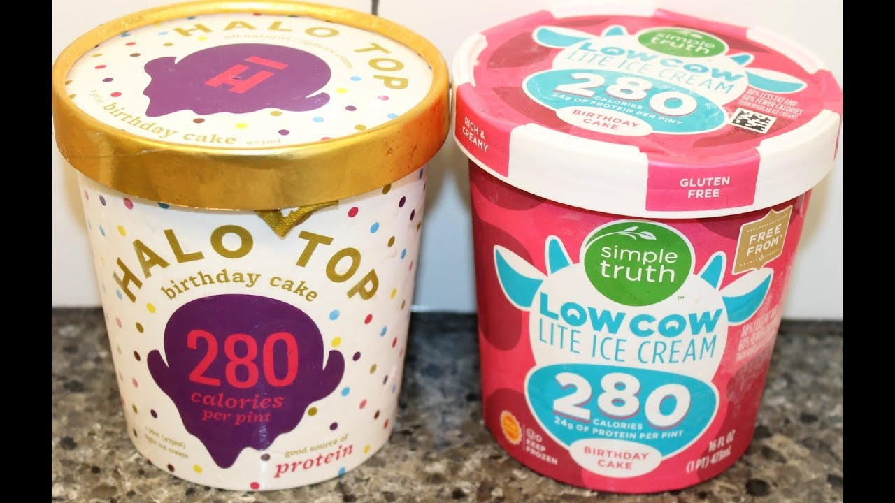 Halo Top vs Simple Truth Birthday Cake Ice Cream Comparison YouTube