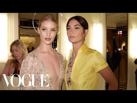 SupermodelBFFs Lily Aldridge and Rosie HuntingtonWhiteley Get Ready for the Met Gala  Vogue