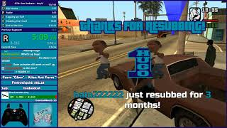 GTA San Andreas Any% Speedrun Attempt - Hugo_One Twitch Stream - 9/15/2017
