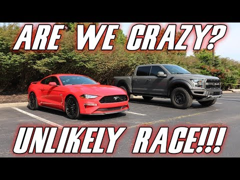 The most INSANE 2018-2019 Mustang GT RACE you will ever see.( Mustang vs Raptor)
