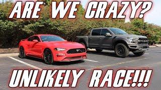 2019 Mustang GT vs 2018 Ford Raptor | CRAZY RACE! |