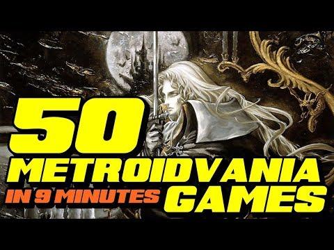 50 Metroidvania in 9 minutes PART 1