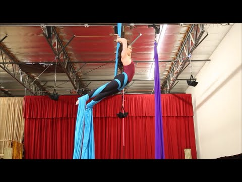 Double Fallen Angel (aka 360 Drop) Aerial Silk Tutorial - with Aerial Physique