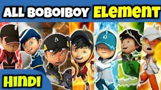 All boboiboy element explain in hindi
