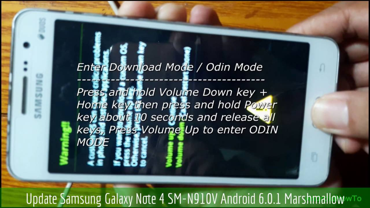 Update Samsung Galaxy Note 4 SM-N910V Android 6 0 1 Marshmallow by  AndroidHowTo