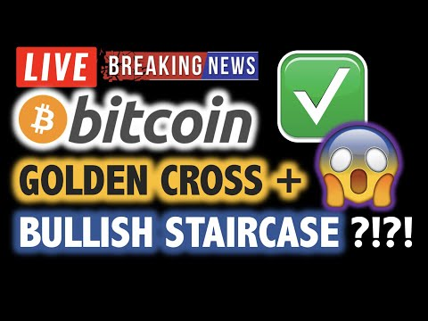 BITCOIN Golden Cross + Bullish Staircase?! ❗️LIVE Crypto Analysis TA & BTC Cryptocurrency Price News