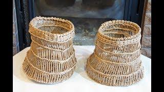 """♻ Плетение корзин в этно-стиле """"буркина-фасо""""  ♻"""