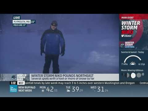 Thundersnow Niko 2017 The Weather Channel Youtube