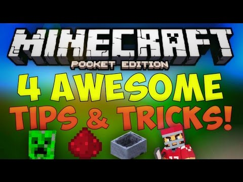 4 AWESOME TIPS & TRICKS IN MCPE! Cool Things About Minecraft Pocket Edition You Didn't Know!