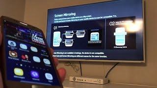 طريقة عرض شاشة الموبايل على التلفزيون بدون برامج