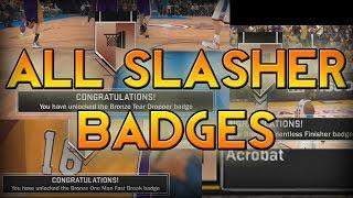 NBA 2K17 - ALL Slasher BADGES Tutorial! (Slasher/Athletic Finisher)