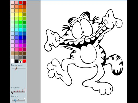 garfield coloring pages for kids garfield coloring pages games