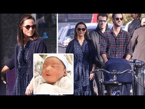 Pippa Middleton & James step out for the first time with their newborn son near their £17M home