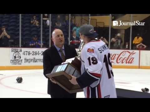 VIDEO: Ex-Rivermen Matt Summers, now Macon captain, skates the SPHL Presidents's Cup after ousting P