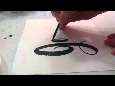 How to hand letter with enamel paint for outdoor signs youtube publicscrutiny Image collections