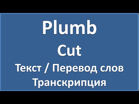 Plumb - Cut (текст, перевод и транскрипция слов)