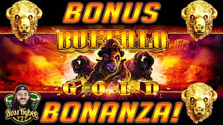 BUFFALO GOLD Bonus Bonanza! Multiple BIG WINS! S1E4
