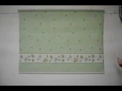 Рулонная штора на проем окна Сари - YouTube