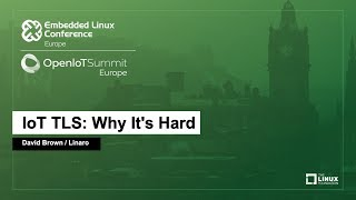 IoT TLS: Why It
