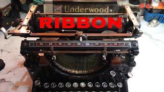 Андервуд 5 механічна друкарська машинка, стрічка з чорнилом встановіть, як замінити старовинні моделі котушок 3 4 6 11 з ПС