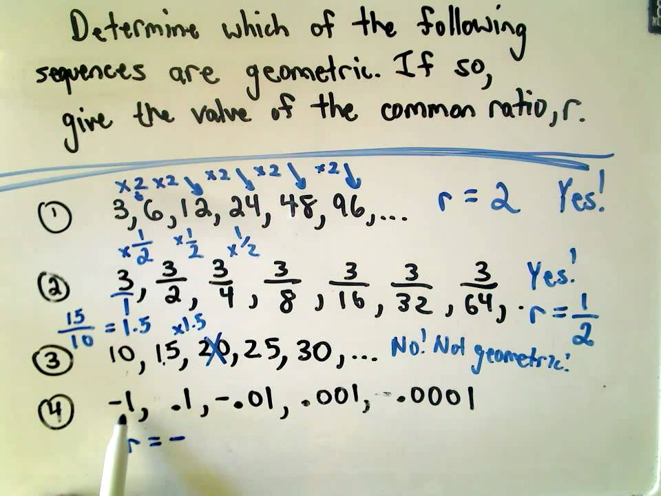 A Quick Intro to Geometric Sequences - YouTube