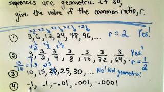 A Quick Intro to Geometric Sequences