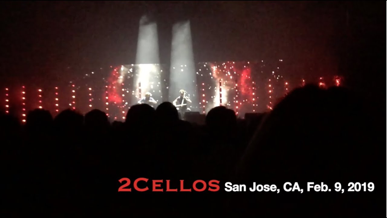 2Cellos [Clips from Live Concert] SAP Center in San Jose, CA, Feb  9, 2019