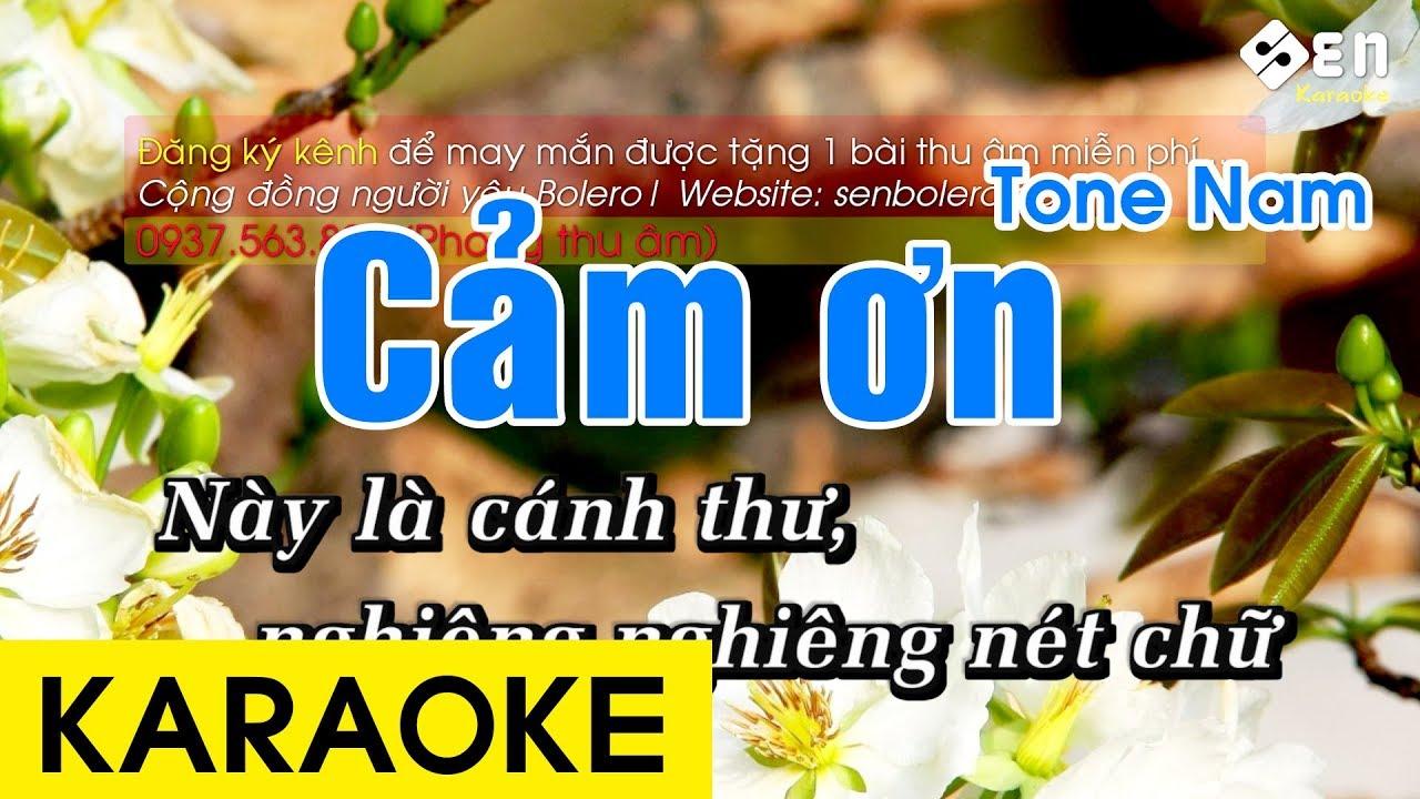 Cảm Ơn Karaoke Beat – Tone Nam