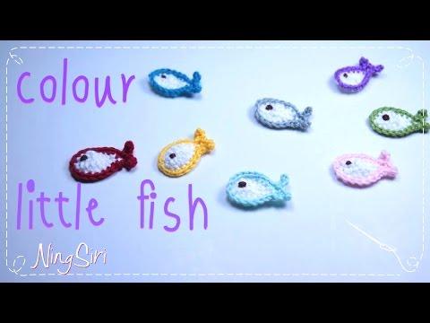 How To Crochet  Little Fish ถักปลาตัวเล็ก