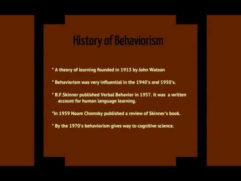 Behaviorism: A Theory Of Language Development